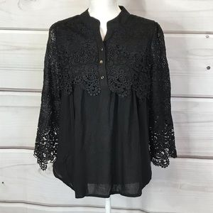 INA Lace Black Blouse